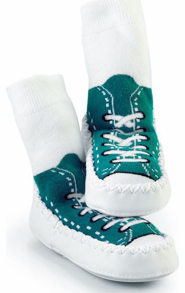 Hippychick Mocc On Turquoise Sneakers 18-24