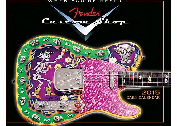 Fender Custom Shop: 2015 Boxed Daily Calendar. For Electric Guitar