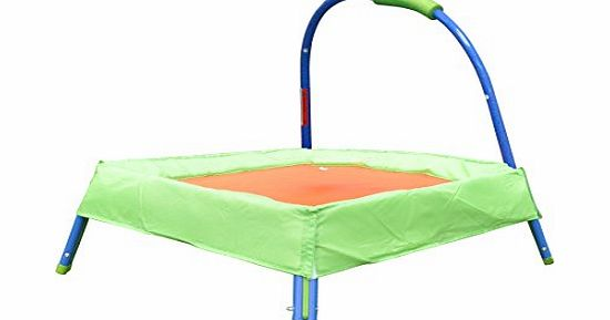 HLC Toys Outdoor Junior Padded Trampoline with Handle for Kids, Best Christmas gift