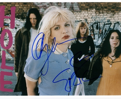10 x 8 SIGNED BY COURTNEY LOVE & ERIC