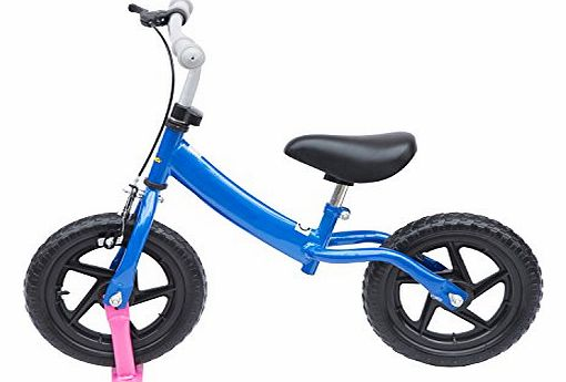 12`` Kids Learner Balance Bike Scooter Children First Ride Training Bicycle with Brake (Blue)