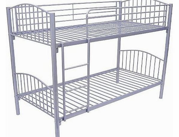 3ft Single Metal Twin Bunk Bed Sleeper Children Kids Furniture Frame Silver