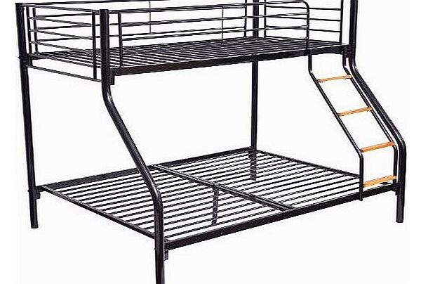 Bunk Bed Single Double Triple Metal Sleeper Bed Children Kid Frame Furniture Black NEW