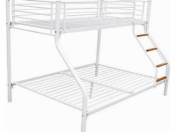 Bunk Bed Single Double Triple Metal Sleeper Bed Children Kid Frame Furniture White
