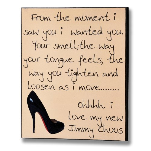 Wooden Message Plaques Signs - 10506 - Jimmy Choos Plaque