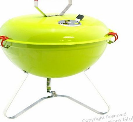Beach BBQ / Camping Portable Light Weight Grill Charcoal Barbecue, Fun for BBQ Party (Green)