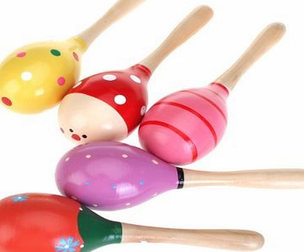 Homgaty Wood Maraca Big Rattles Shaker Percussion kid Baby Musical Toy Favor Perfect gift for kids