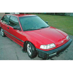honda Civic 1990 Red