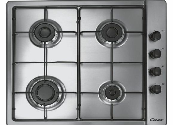 Hoover Candy CLG64SPX Gas Hob Built In Stainless Steel