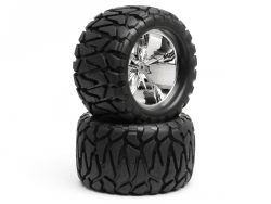 Slayer Wheel With Quake Tyre For Savage X (2Pcs)
