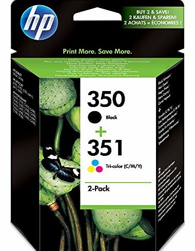Original 350/351 Combo-Pack Inkjet Print Cartridges (Black/Tri-colour)
