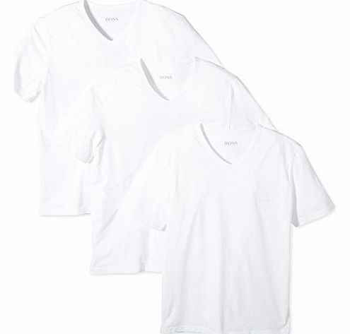 3-Pack Cotton Classic V-Neck T-Shirts, White Size: X-Large