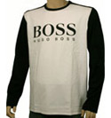 Black and White Long Sleeve Logo T-Shirt (Green Label)