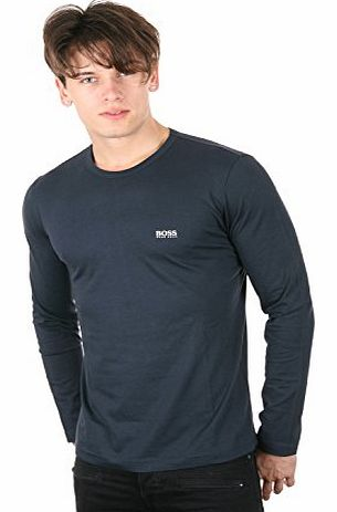 Green Label Round Neck Long Sleeve Top (M, NAVY)