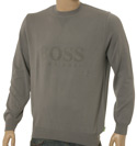 Grey Fine Ribbed Cotton Mix Sweater
