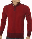 Red & Burgundy Wool Mix Sweater - Black Label