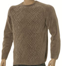Taupe Brushed Cotton Sweater - Black Label