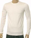 White Long Sleeve Cotton T-Shirt - Red Label