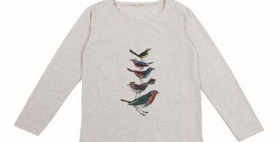 Birds pleats T-Shirt Ecru `2 years,4 years,6