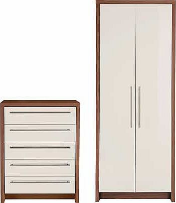 Camden 2 Piece 2 Door Wardrobe Package - Cream &
