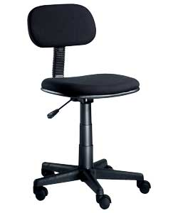 Hygena Gas Lift Swivel Office Chair - Black