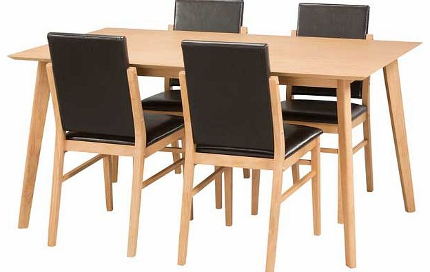hygena dining tables and chairs : hygena riley oak veneer dining table and 4 from www.comparestoreprices.co.uk size 624 x 395 jpeg 31kB