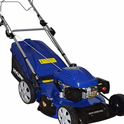 Hyundai 20`` (508mm) 173cc Self Propelled, 4 Stroke Petrol Lawn Mower With 70L Grass Bag HYM51SP 4-in-1 Mulching, Cutting, Collecting amp; Side Discharge
