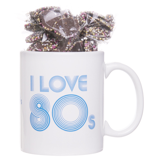 Love The 80s Mug and Retro Sweets Gift Set