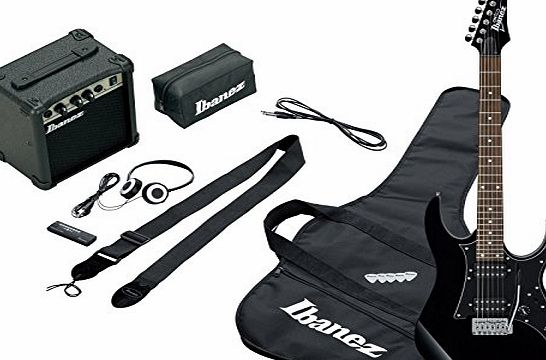 IJRG200-BL Jumpstart Set Electric Guitar (Amp, Gig Bag, Strap, Cable, Plectrums, Accessory Case) Red