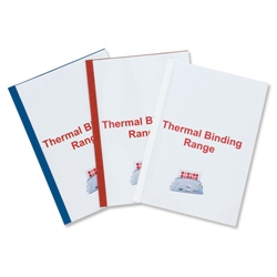 GBC Thermal Binding Covers 8mm Front PVC Clear