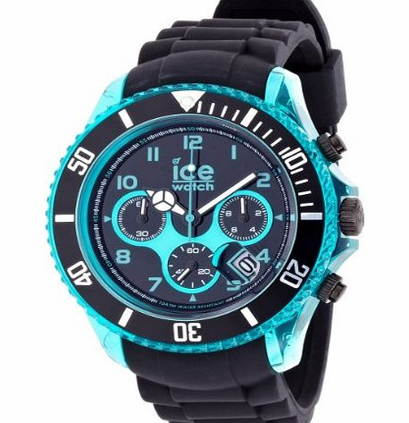 Mens Quartz Watch with Black Dial Chronograph Display and Black Silicone Strap CH.KBE.BB.S