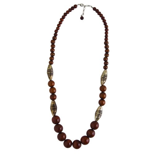 Bead Wood Necklace