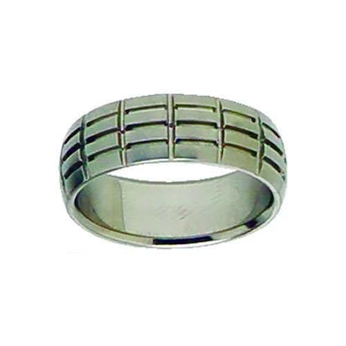 Etched Grid Ring