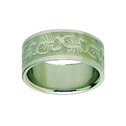 Etched Scorpian Ring