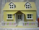 DOLLS HOUSE, YELLOW CHALET COTTAGE WITH VERANDAH WOODEN