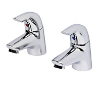 Ceraplan Basin Pillar Taps Pair