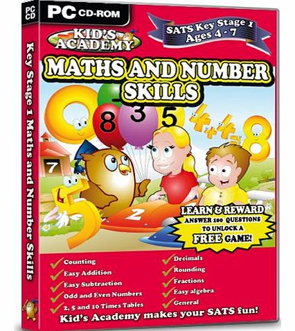 Idigicon Kids Academy - Key Stage 1 Maths and Number Skills - 4-7 Years (PC CD)