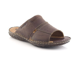 Leather Slip On Sandal