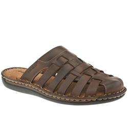 Male Rome Interwoven Leather Upper in Dark Brown