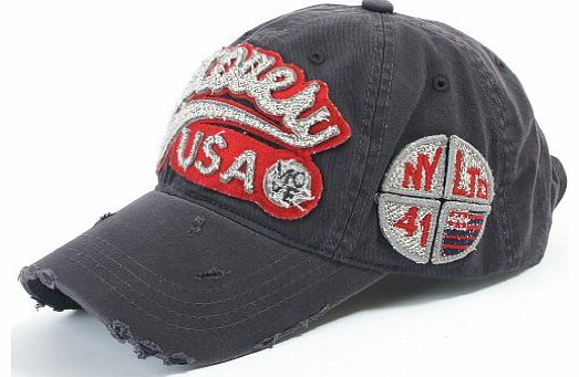 Discovery USA Logo Patched Distressed Vintage Baseball Cap Snapback Trucker Hat (ballcap-604-9)