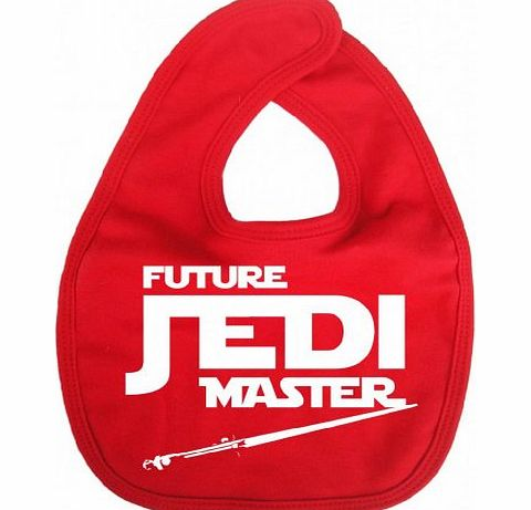 Image is Everything - Future Jedi Master - Baby, Toddler, Feeding Bib, Red