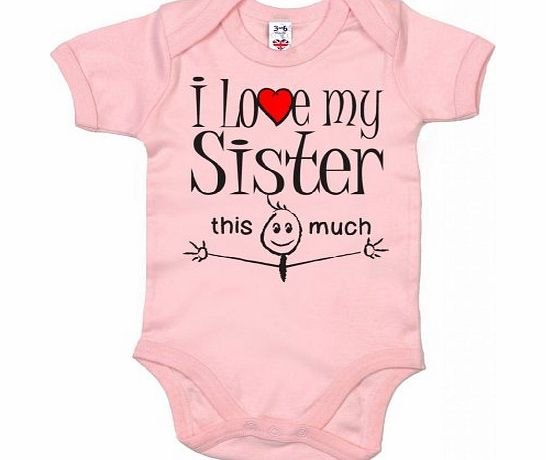 Image is Everything IiE, I love my Sister this much, Baby Unisex, Bodysuit, 3-6m, Pink