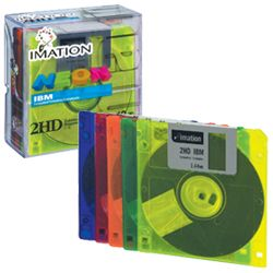 DS/HD 3.5`` IBM Formatted Diskettes Neon