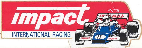 International Racing Sticker (14cm x 5cm)