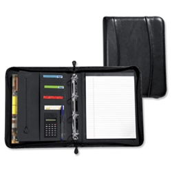 Ring Binder Portfolio Leather Zipped with