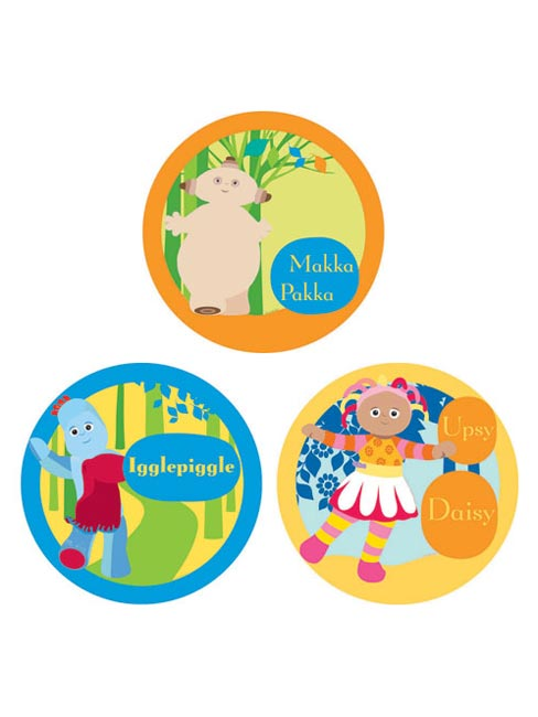 In the Night Garden Art Squares - 3 large circular shapes