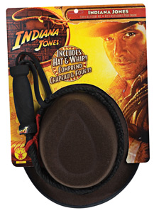 Indiana Jones Hat and Whip Accessory Kit