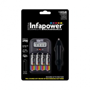 Infapower 1 Hour Battery Charger   4 AA 2700mAh