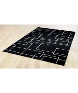 Hotel Rug 120x170 - Black and White