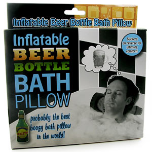 Beer Bottle Bath Pillow